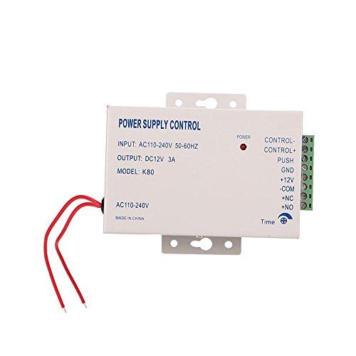 Rosepoem Tür-Zugangskontrollschalter Netzteil für Stromversorgungen, DC-12V 3A 30W-Netzteil für die Zugangskontrolle
