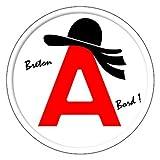 A jeune conducteur apprenti autocollant sticker Bretagne chapeau breton logo5