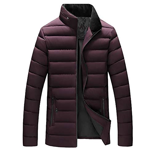 Yvelands Herren Mantel Casual Warm Stehkragen Schlank Winter Zip Mantel Outwear Jacke Top Bluse Mantel aus ()