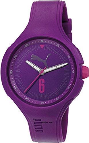 Puma Wave Women's Quartz Watch with Purple Dial Analogue Display and Purple Polyurethane Strap PU911201006