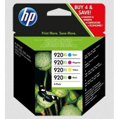 HP Original C2N92AE / 920XL, für OfficeJet 6500 4X Premium Drucker-Patrone, Schwarz, Cyan, Magenta, Gelb, 1x 1200, 3X 700 Seiten, 1 x 32 & 3 x 8 ml -