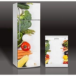 Fruta Y Verdura 3d Autoadhesivo Lavavajillas Refrigerador Congelar Etiqueta Kid's Art Nevera Puerta Cubierta Papel Pintado 60 * 180cm