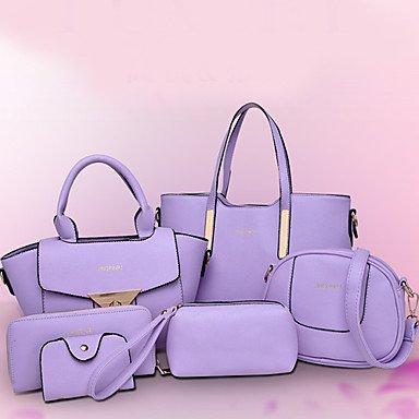 La donna pu canna borsa a tracolla / Tote - bianco / viola / blu / Giallo / Rosso / Nero,Bianco Yellow