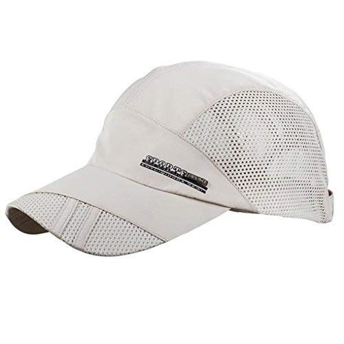 LUFA Sommer-Breathable Mesh-Baseballmütze Sport, schnelltrocknende Hüte für Männer beige Beige Mesh-hut