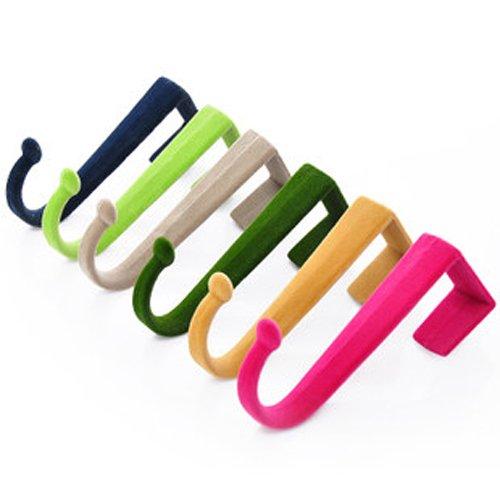 Hand Übung Web (Haushalt Lovely 4/lot 2kg S-förmigen Beflockung ABS Kunststoff Tür Rückseite Haken Rack Kleiderbügel ^)