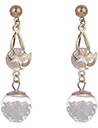 Zeneme Stylish And Trendy Gold Plated Dangle Drop Earrings Jewellery For Women/Girls