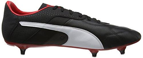 Puma Herren Esito C SG Fußballschuhe Schwarz (Puma Black-White-Red)
