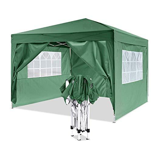 yuebo gazebo da giardino gazebo richiudibile tenda gazebo 3x3m impermeabile padiglione da giardino (verde)