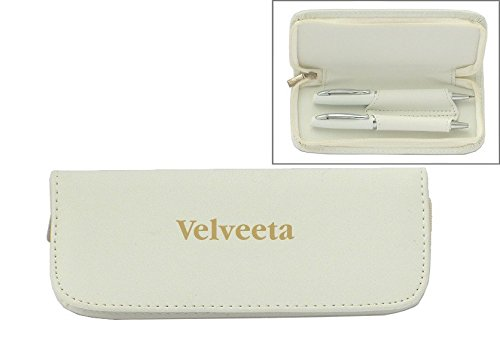 set-de-pluma-en-estuche-de-cuero-artificial-de-color-blanco-con-nombre-grabado-velveeta-nombre-de-pi