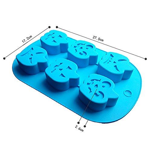 rmen Backen Formen für Seifen/Kuchen/Cookies/Candy Farbe zufällige 1PCS, Silikon, Halloween, 26x17.5cm (Halloween-kuchen-schimmel Uk)