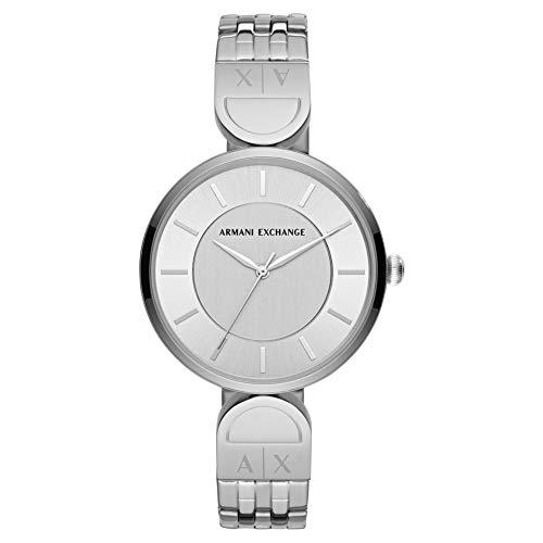 n-Uhren Analog Quarz One Size Silber Edelstahl 32002559 ()