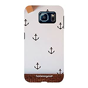 HomeSoGood The Ship Anchors Pattern White 3D Mobile Case For Samsung S6 ( Back Cover)