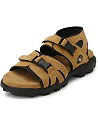 Fucasso Men's Premium Synthetic Beige Straps Outlander Sandals