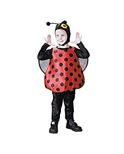 Glooke Selected traje Mariquita Niños 3+, Multicolor, 2-3Years, 373645