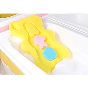 BEWAVE Comfy Baby Bath Sponge Cushion, Skid Proof Bath Mat, Yellow