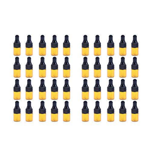 Fenteer Set 40pcs Flacons d'Huiles Essentielles Vides Rechargeable