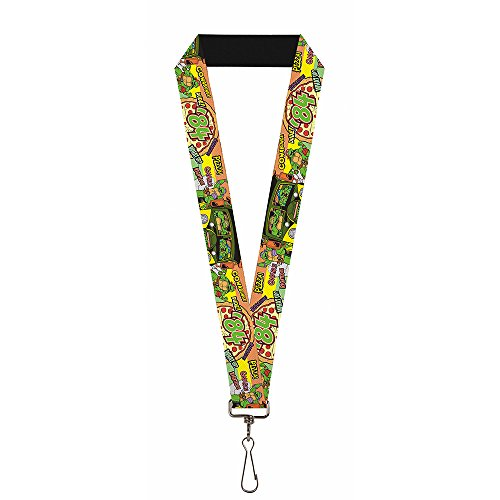 Classic TMNT Lanyard - Turtles pose14 '84 Pizza/Verbiage