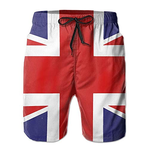 British Flag Quick Dry Elastic Lace Boardshorts Beach Shorts Pants Swim Trunks Personalised Man Swimsuit with Pockets X-Large