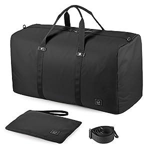 GAGAKU 45L Bolsa de Viaje Plegable Bolsa de Deporte Duffel Bag para Avión Cabina Impermeable Nylon – Azul