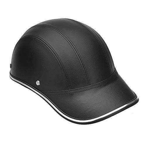 Männer Frauen Universal Motorradhelm Baseball Cap Stil Half Face Helm Elektroroller Anti-UV-Sicherheit Schutzkappen Leichte Fahrradhelm -