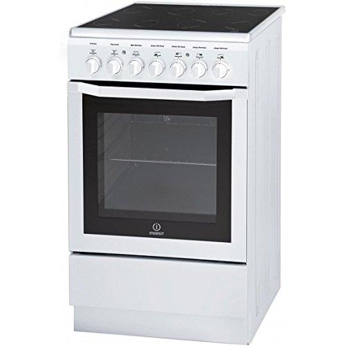 Indesit I5VMC1A(W) FR Autonome A Blanc four et cuisinière - Fours et cuisinières (Cuisinière, Blanc, Rotatif, Devant, Electrique, 57 L)