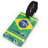 I titolari di carta della modifica Deposito del brasiliano Retro Bandiera Viaggi Etichetta bagaglio Novel ai dipendenti per le valigie bagagli Borse, bianco
