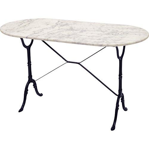 Unbekannt Pflanzenständer-Table de Marmor weiß 120x 60cm oval