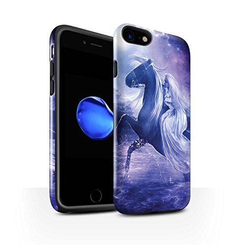 Officiel Elena Dudina Coque / Brillant Robuste Antichoc Etui pour Apple iPhone 7 / Feu et d'Acier Design / Super Héroïne Collection Amazona