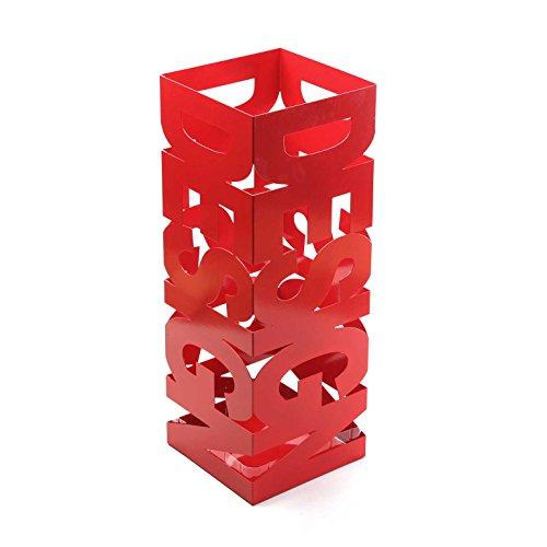 Versa 20200103 portaombrelli rosso design, 52x19x19cm, metallo, moderno