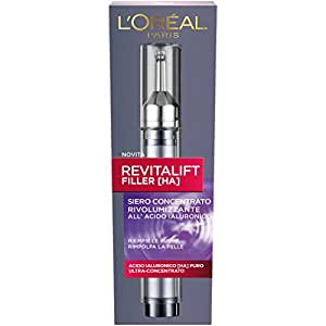 L'Oréal Paris Revitalift Filler Siero Antirughe Rivolumizzante con Acido Ialuronico Ultra-Concentrato, 16 ml