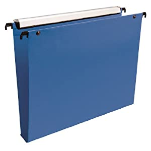 Esselte Premium Suspension Files for Filing Cabinet 30 mm Base Pack of 10 Opaque Blue