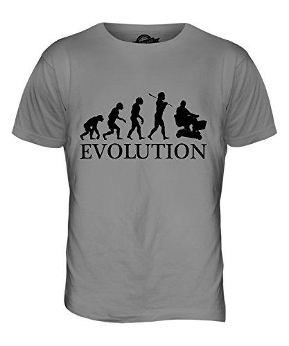 CandyMix Elektromobil Evolution Des Menschen Herren T Shirt Hellgrau