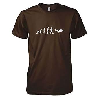 TEXLAB - Tauchen Evolution - Herren T-Shirt, Größe S, braun