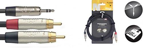 stagg-20071-6-m-con-punta-de-oro-1-x-mini-estereo-macho-rca-conectores-divisor-de-audio-y-cable-negr