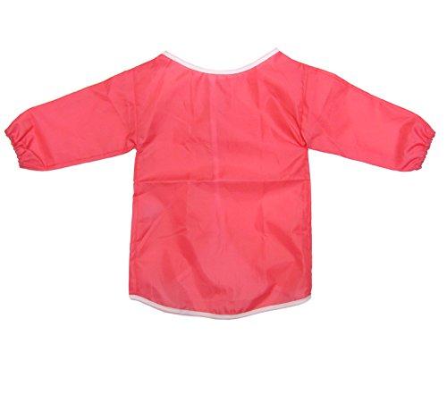 Grembiule camice per bambini, mezze maniche lunghe per pittura, cucina, scuola, casa. 2-4 Anni. (3 4 Camice Lunghezza)