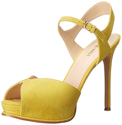 Nine West Cruzeto Suede Sandales à talons yellow
