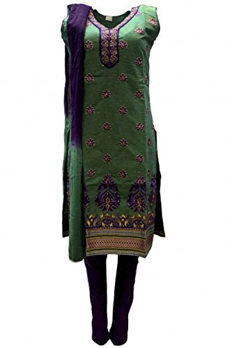 CSK3200 mare verde e viola Salwar Kameez Designer Bollywood Salwar