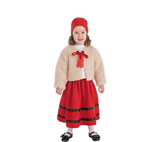 Zzcostumes Kostüm der Hirtin mit Mantel für Ein ()