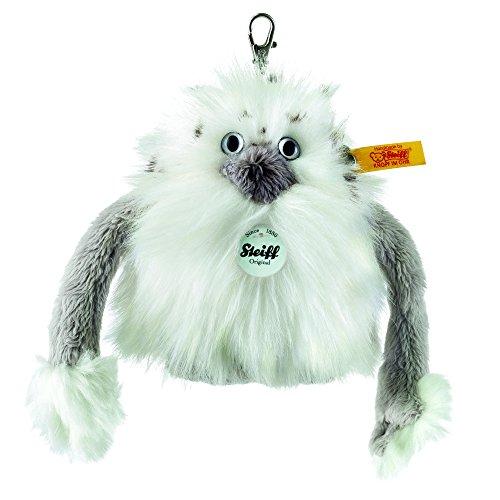 Steiff 112492 - Anhaenger Nrommi Yeti 10, Traditioneller Plüsch, weiß/grau