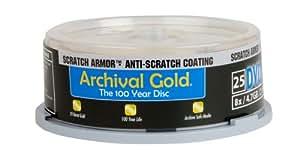 Delkin Europe 25 DVD-R Archival Gold Stockage de Photo numérique dans une tour de protection