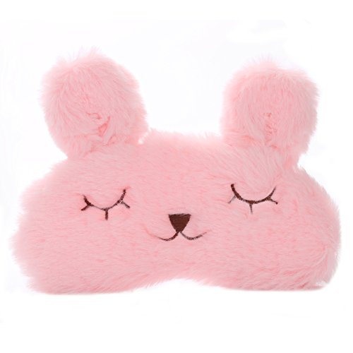 silk-eye-mask-with-lovely-3d-cute-rabbit-face-eye-bags-adjustable-super-soft-sleeping-blindfold-for-