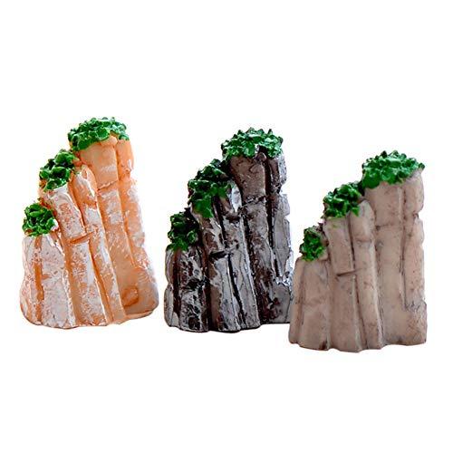 Fayeille 5/10 STÜCKE Miniatur Berg Aquarium Ornament, Bonsai Onaments Zubehör Kits für Patio Aquarium Bonsai Blumentöpfe Puppenhaus Ornamente