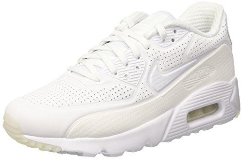 Nike Herren Air Max 90 Ultra Moire Turnschuhe, Blanco (White / White-White-White), 47 EU (Nike Air Max 90 Moire)