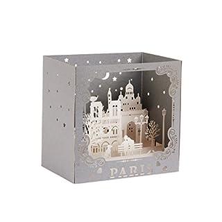 Jagenie Carte 3D pop-up pour fête des pères, fête des mères, carte de vœux 3D, carte de remerciements, carte d'anniversaire, carte avec motif Paris