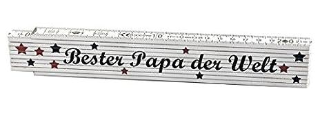 Zollstock Bester Papa der Welt - Geschenk - Vater - Vatertag