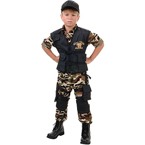 Navy SEAL Team Deluxe Costume (Child (Seal Kostüme Navy Kids)