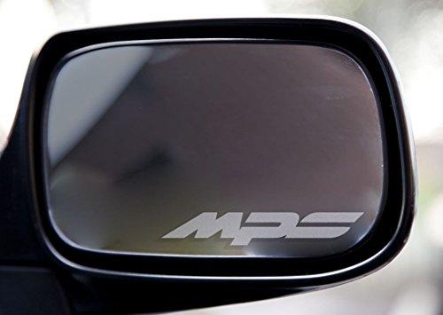 2 x Mazda 3 6 MPS Spiegelaufkleber aus Milchglasfolie, Aufkleber aus Frost Folie, UV & waschanlagenfest, Milchglas, Frost, Aufkleber,Sticker für Spiegel, Aussenspiegel, Außenspiegel, von Myrockshirt