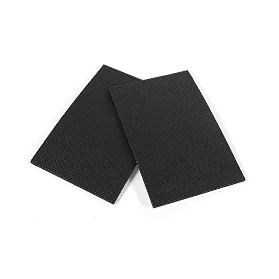 2Pcs Rubber Feet Pads Non-slip Self Adhesive Floor Protectors Furniture Sofa Table Chair Rubber Feet Pads Black