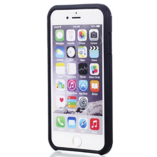 Ukayfe Custodia per iPhone 6/6S 4.7,UltraSlim TPU Gel Gomma Silicone Copertura Case per iPhone 6/6S 4.7,Moda Serie Pattern Back Cover Crystal Skin Custodia Stilosa custodia di design Protettiva Shell  Nero