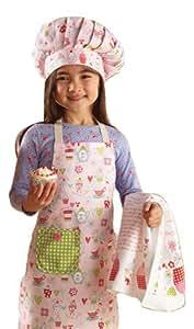 Cooksmart Kids Cupcake 3-Piece Apron, Hat and Tea Towel Set